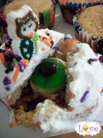 Hidden Eye Halloween Cupcakes (Gluten Free, Dairy Free)