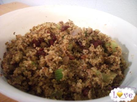Quinoa Cranberry Pecan Stuffing (Gluten Free, Dairy Free, Soy Free, Casein Free, Vegan)