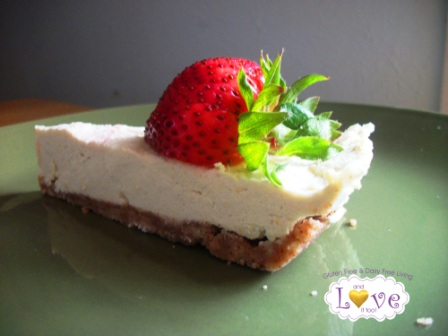 Sugar- Free Raw Vegan Lemon Cheesecake, Ingredient-Challenge Monday