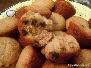 choc chip muffins inside
