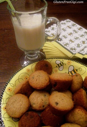 choc chip muffins with milk