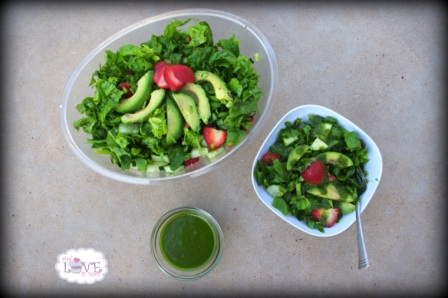 Ingredient Challenge Monday Featured Recipe- Strawberry Arugula Salad with Sweet Cilantro Honey Dressing from Heather, The Gluten-Free Cat and ICM Challenge-Ingredient Announcement!