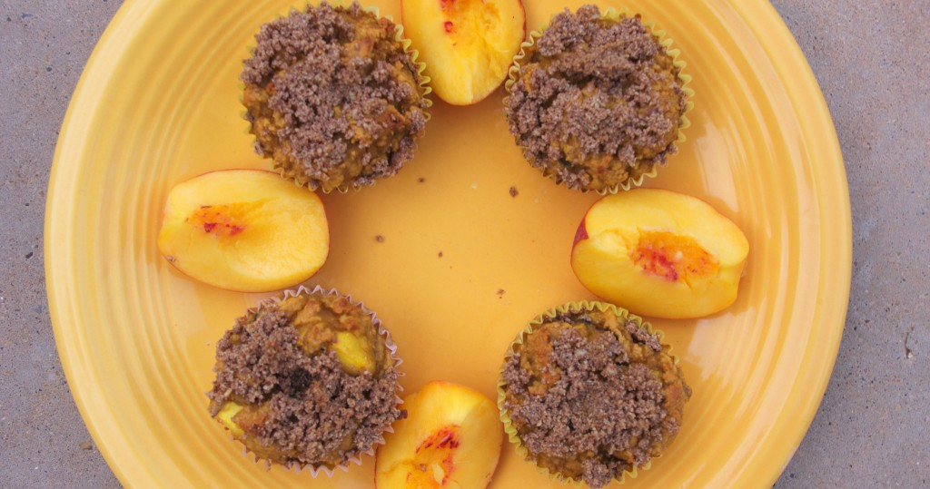 Healthy Lunchbox 2012: Peachy Coconut Streusel Muffins