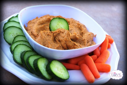 Roasted Red Pepper Paleo Hummus