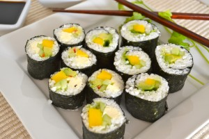 Veggie Sushi by Gluten-Free Cat