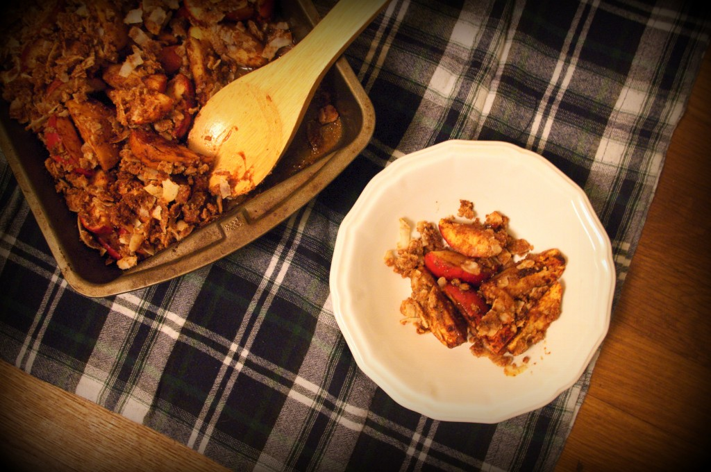 Coconut Flour Apple Crumble (nut-free)