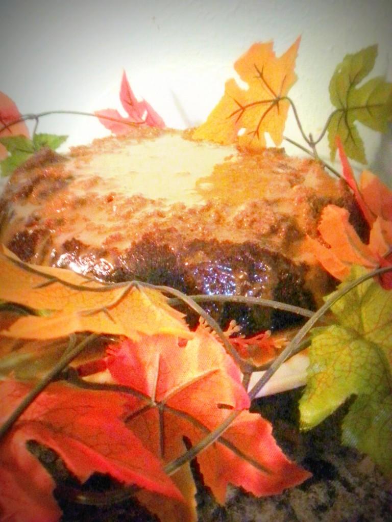 Vanilla Pumpkin Swirl Cake with Vanilla Palm Sugar Glaze (Grain-Free, Dairy-Free, Refined Sugar-Free, Paleo)
