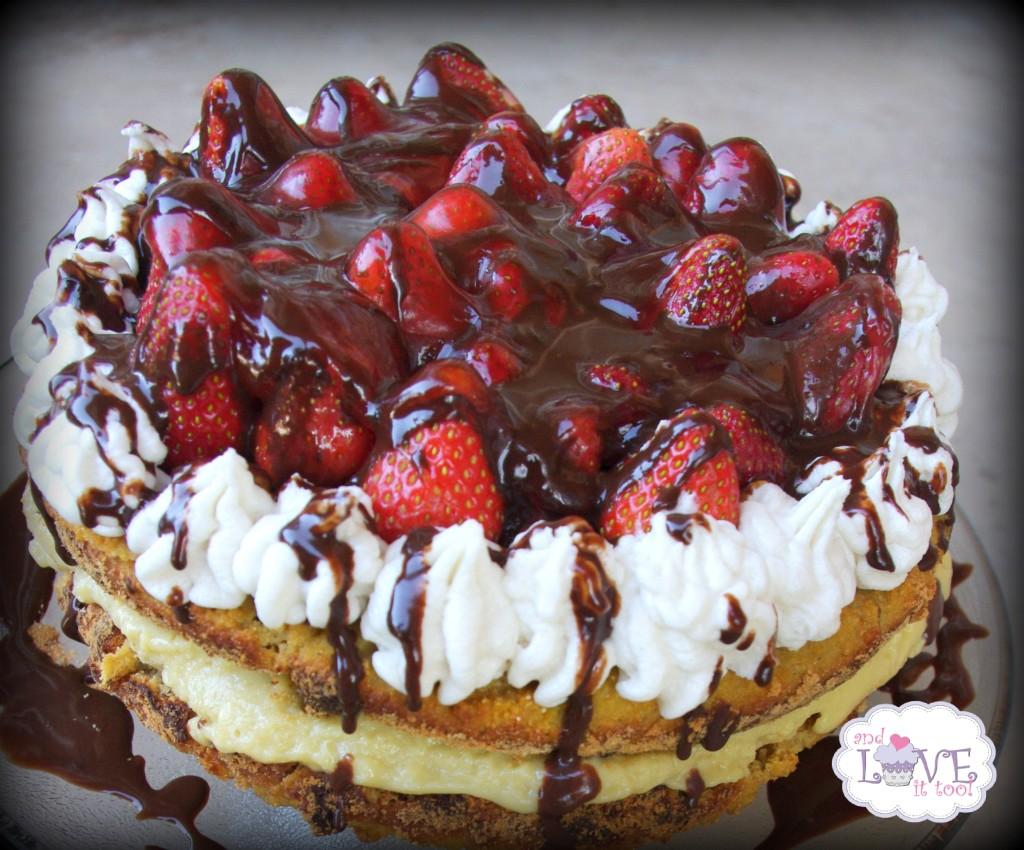 Strawberry Topped Boston Cream Pie (Gluten-Free, Dairy-Free, Nut-Free, Paleo)