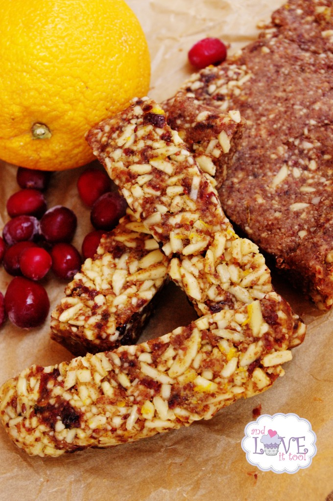 Orange Cranberry Almond Power Bars