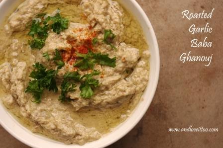 Roasted Garlic Baba Ghanouj