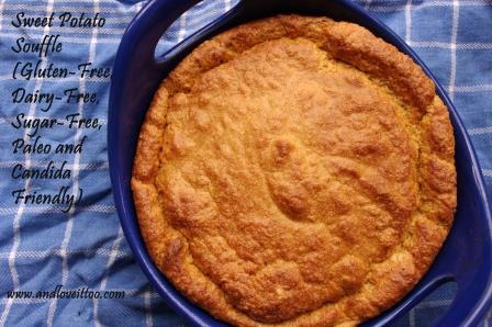 Sweet Potato Souffle (Gluten-Free, Dairy-Free, Sugar-Free, Paleo, ACD)