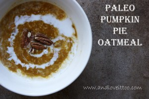 Paleo Pumpkin Pie Oatmeal