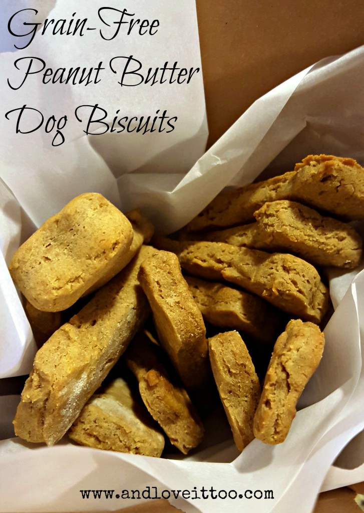 Grain-Free Peanut Butter Dog Biscuits