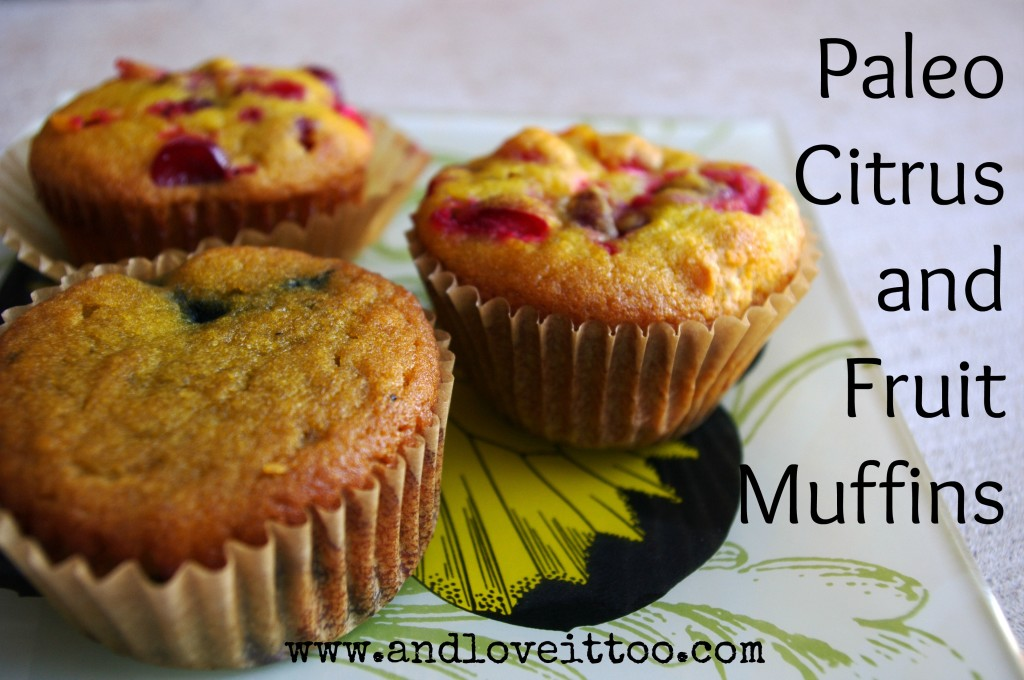 Paleo Citrus and Fruit Muffins For March Muffin Madness