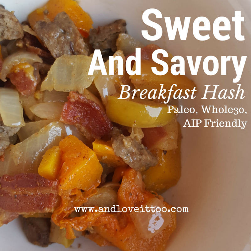 sweet and savory breakfast hash