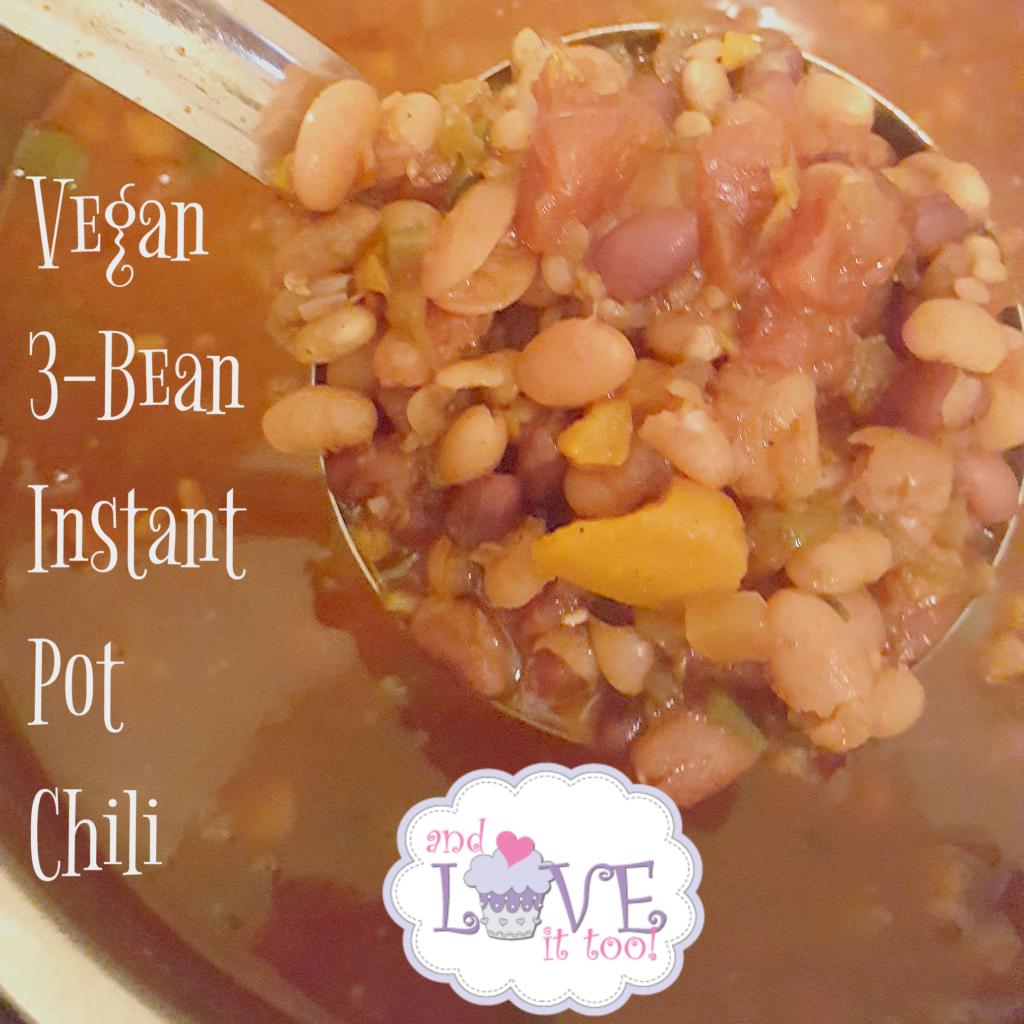 Vegan 3-Bean Instant Pot Chili